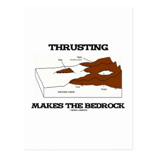Thrusting Makes The Bedrock (Geology Orogeny) Postcard