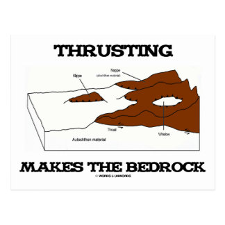 Thrusting Makes The Bedrock (Geology Orogeny) Post Cards