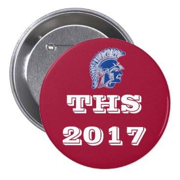 Beach Themed THS Tremper High School 2016 Button