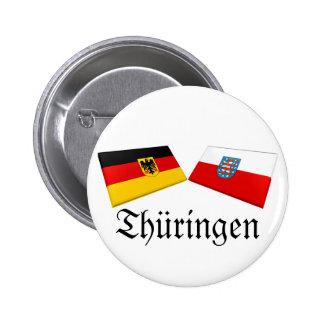 Thueringen, Germany Flag Tiles Pinback Buttons