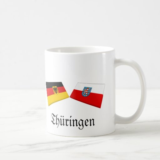 Thueringen, Germany Flag Tiles Classic White Coffee Mug