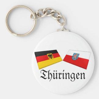 Thueringen, tejas de la bandera de Alemania Llavero Redondo Tipo Pin
