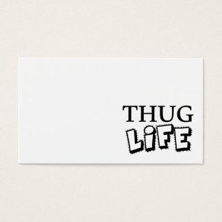 THUG LIFE ATTITUDE MOTTO GANGS GANGSTER TOUGH HOOD BUSINESS CARD
