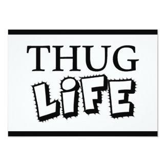 THUG LIFE ATTITUDE MOTTO GANGS GANGSTER TOUGH HOOD CARD