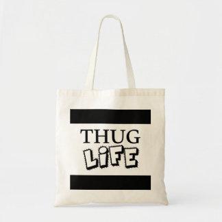 THUG LIFE ATTITUDE MOTTO GANGS GANGSTER TOUGH HOOD TOTE BAG