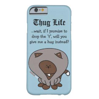 Thug Life Hoodie Cat Hug iPhone Case