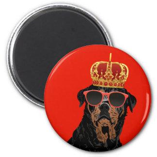 Thug Life King Rottweiler for Rottweiler Parents Magnet