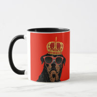 Thug Life King Rottweiler for Rottweiler Parents Mug