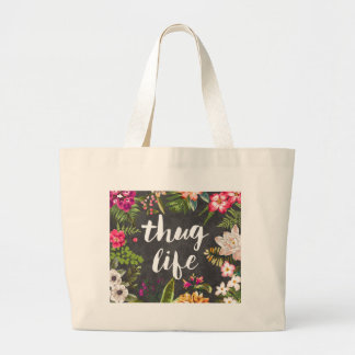 Thug life large tote bag