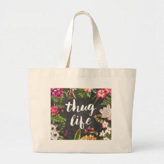 Thug life large tote bag