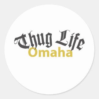 Thug Life Omaha Classic Round Sticker