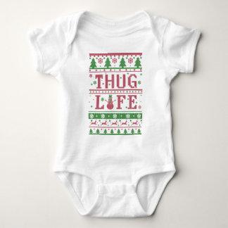 Thug Life Ugly Christmas Baby Bodysuit
