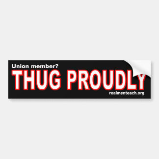 THUG PROUDLY BUMPER STICKERS