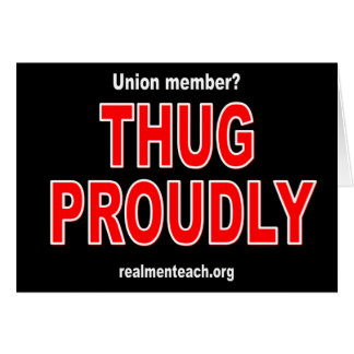 Thug proudly card