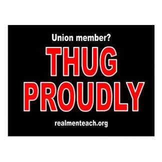Thug proudly postcard