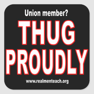 Thug proudly square sticker