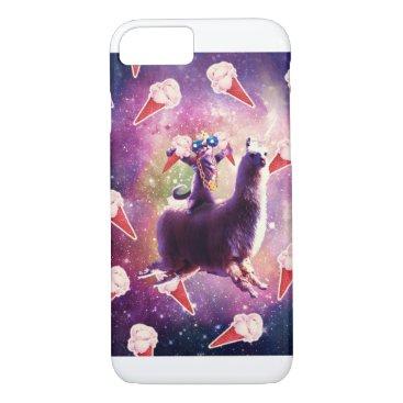 Thug Space Cat On Llama Unicorn - Ice Cream iPhone 8/7 Case