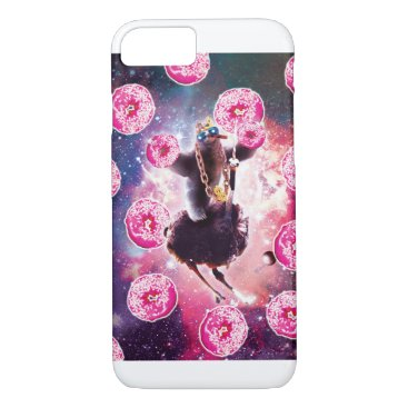 Thug Space Sloth On Ostrich Unicorn - Donut iPhone 8/7 Case