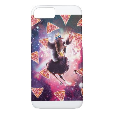 Thug Space Sloth On Ostrich Unicorn - Pizza iPhone 8/7 Case