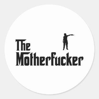 Thug Round Stickers