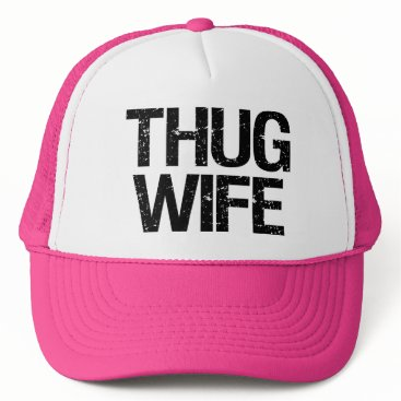 Beach Themed Thug Wife Funny Hat