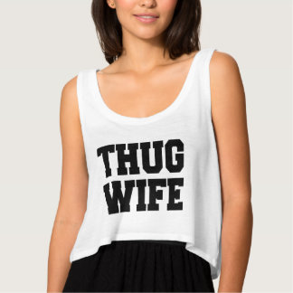 Thug Wife funny women's crop top