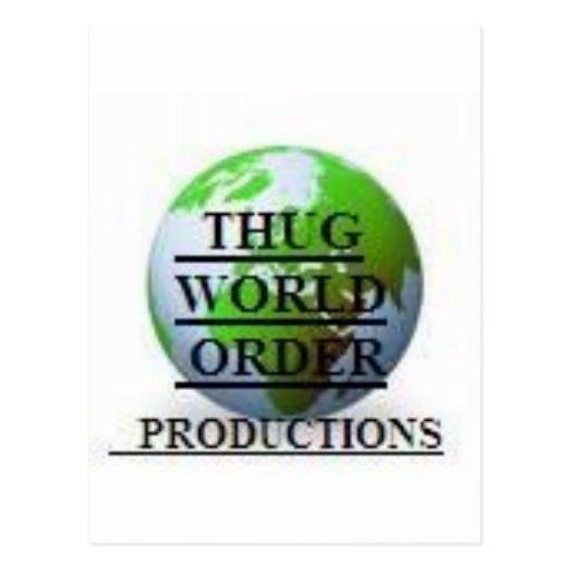 THUG WORLD ORDER PRODUCTIONS  LOGO-4 POSTCARD