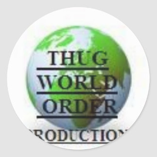 THUG WORLD ORDER PRODUCTIONS  LOGO-4 ROUND STICKERS