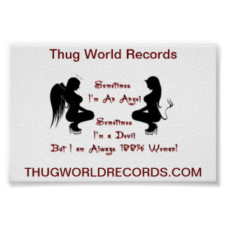 Thug World Records devil angel poster