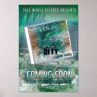 thug world records shark city flyer poster