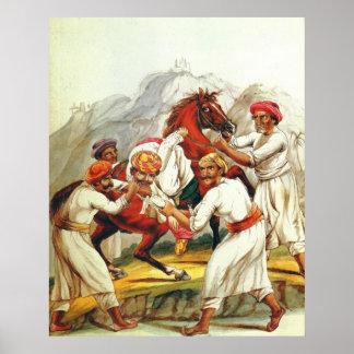 Thuggee la pintura del siglo XIX de los asesinos Póster