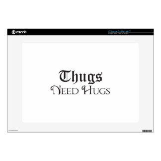 """Thugs need hugs decal for 15"""" laptop"""