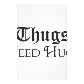 Thugs need hugs stationery