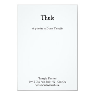"""Thule - card 3.5"""" x 5"""", white envelopes included"""