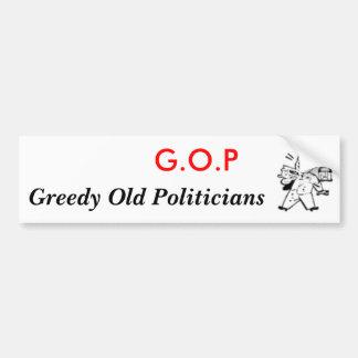 thumb_check_in_hand, G.O.P, Greedy Old Politicians Car Bumper Sticker