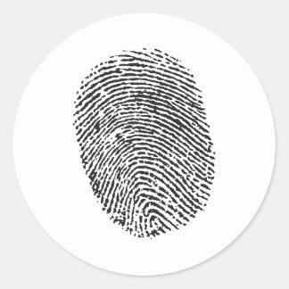 Thumb Print Classic Round Sticker