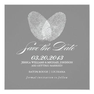 Thumb Print Heart | Save the Date Invitations