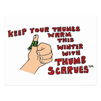 Thumb Scarves by Sam Backhouse. Postcard