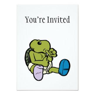 Thumb Sucking Turtle 5x7 Paper Invitation Card
