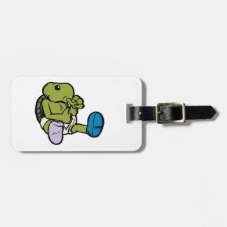 Thumb Sucking Turtle Bag Tag