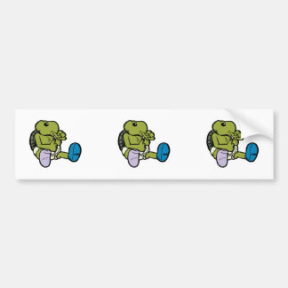 Thumb Sucking Turtle Bumper Sticker