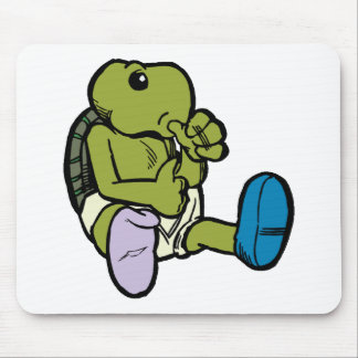 Thumb Sucking Turtle Mouse Pad
