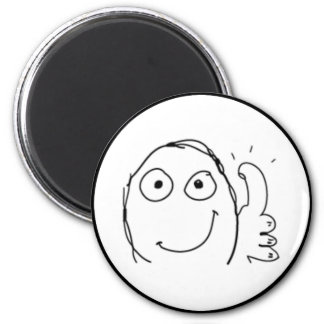 Thumb up Comic Meme. 2 Inch Round Magnet