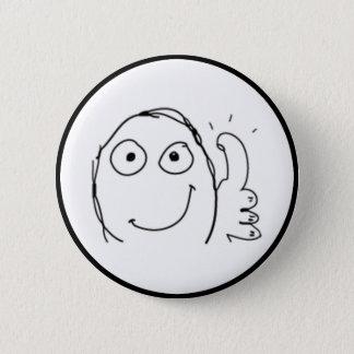 Thumb up Comic Meme. Button