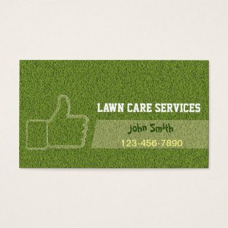 Thumb Up Landscaping Lawn Care Gardening Business Card