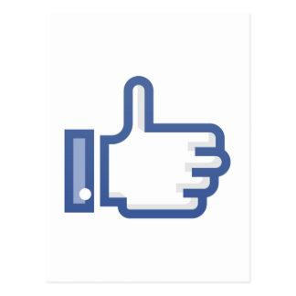 Thumb Up Symbol Postcard