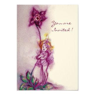 THUMBELINA 2 ,pink purple cream felt Card