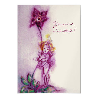 THUMBELINA 2  ,pink purple gold metallic Card