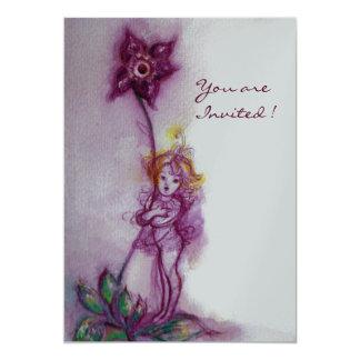 THUMBELINA 2  ,pink purple silver metallic Card