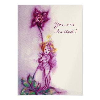THUMBELINA 2 ,pink purple white champagne metallic Card